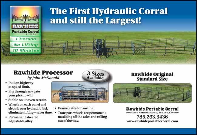 American Farming publication Rawhide Portable corral http://www.rawhideportablecorral.com