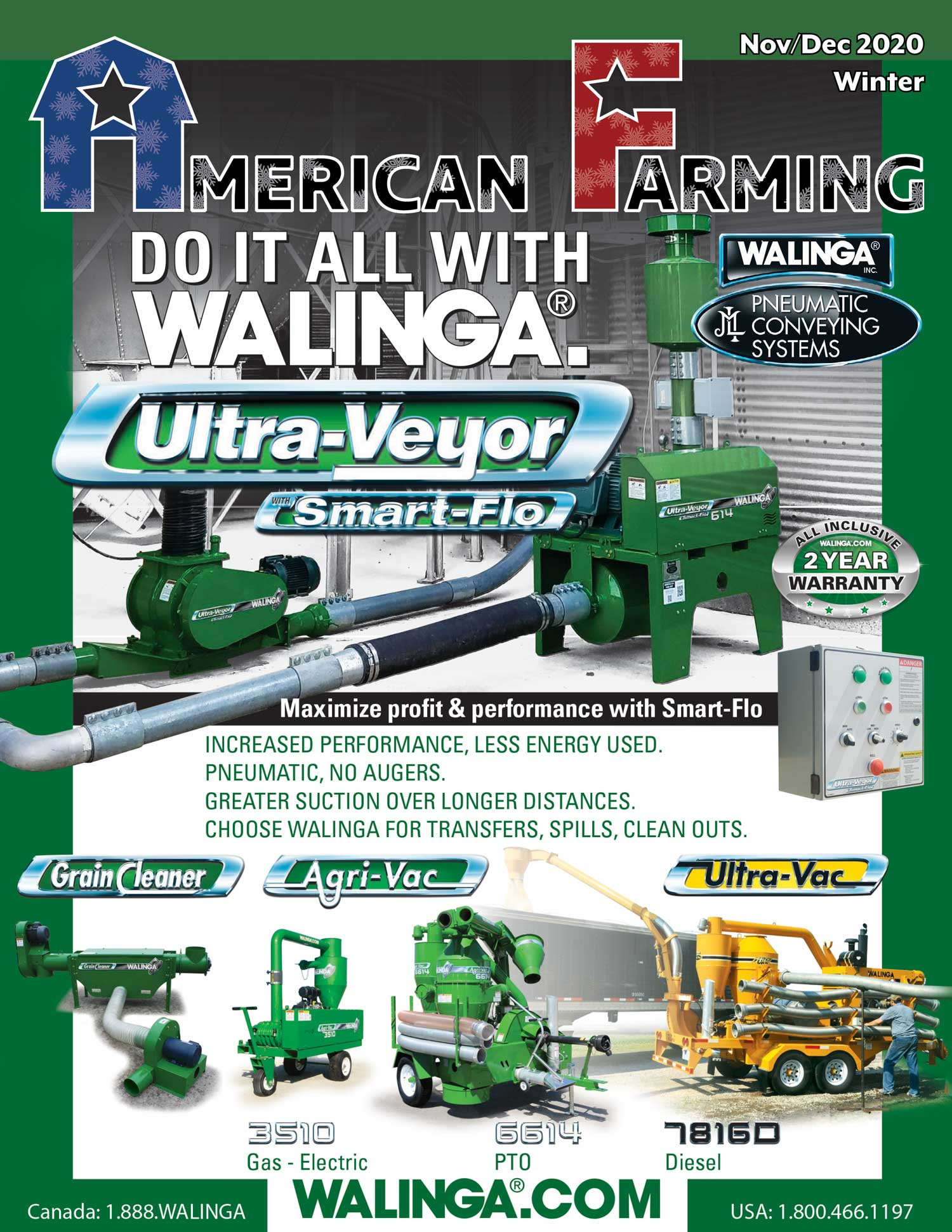 American Farming Publication Winter 2020 Cover www.Walinga.com
